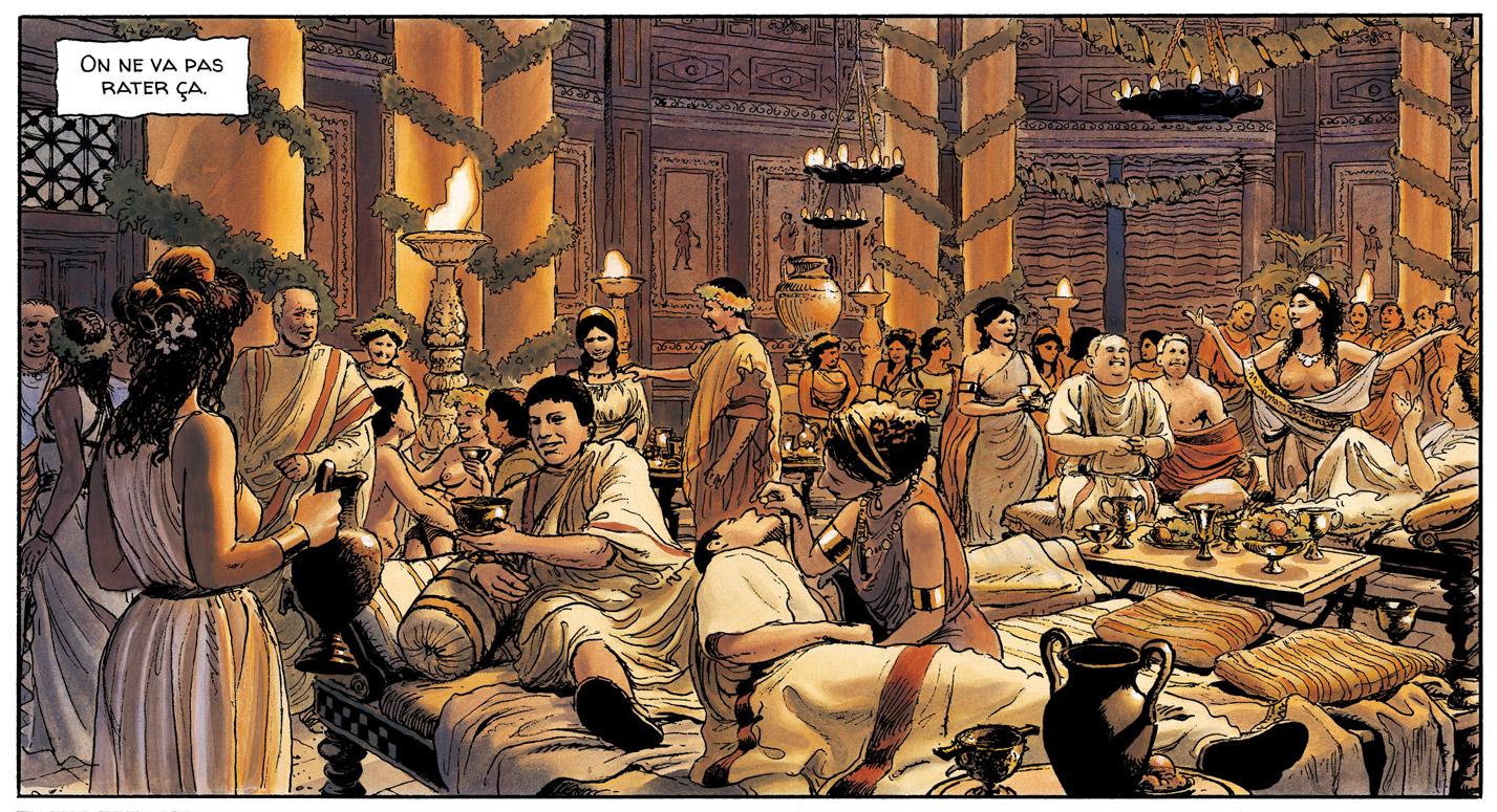 antique Rome orgie